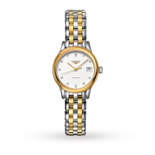 Ladies Watches - Longines Flagship Ladies Diamond set Bicolour Watch - L4.274.3.27.7