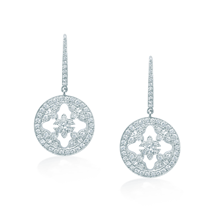 For Her - Empress White Gold and Diamond Drop Earrings