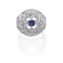 For Her - Floresco White Gold Bombe Ring