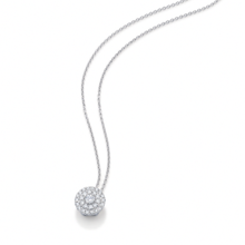 For Her - Double Halo White Gold and Diamond Pendant