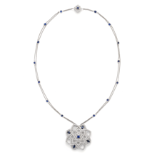 For Her - Floresco Large Diamond and Sapphire Pendant