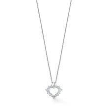 For Her - Moments White Gold and Diamond Heart Pendant