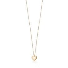 For Her - Yellow Gold  Heart Charm Pendant